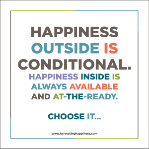 Happiness Outside is Conditional